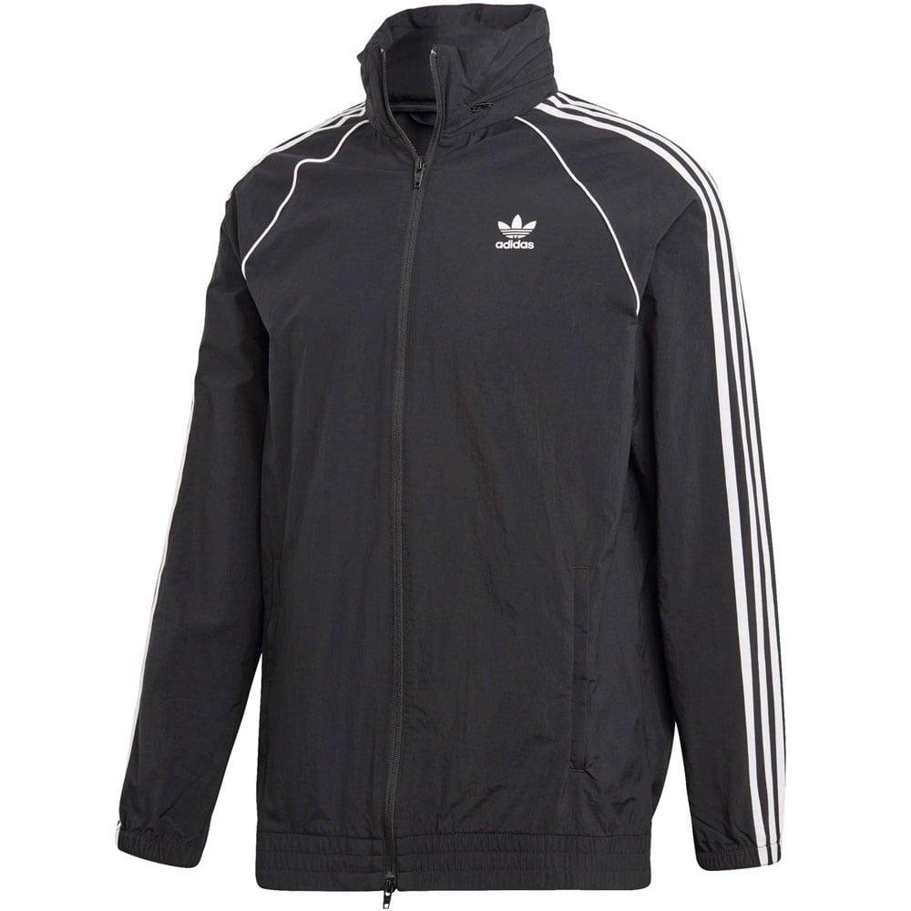 adidas originals superstar windbreaker herren jacke black. Black Bedroom Furniture Sets. Home Design Ideas