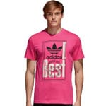 adidas Originals Tongue Label Tee Herren-Shirt Shock Pink