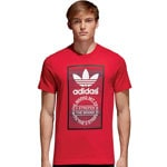 adidas Originals Traction Tongue Tee Herren-Shirt Scarlet