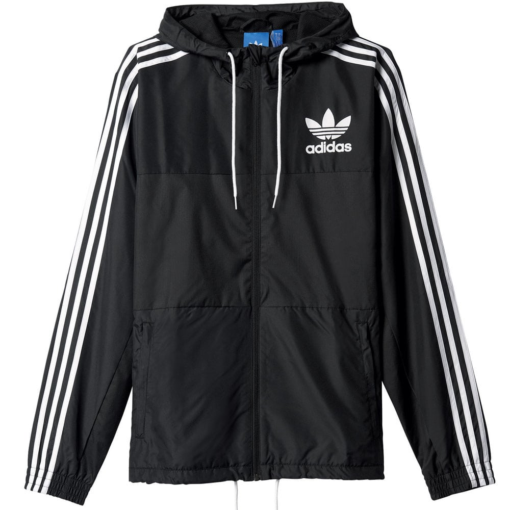 adidas originals california windbreaker herren jacke black fun sport vision. Black Bedroom Furniture Sets. Home Design Ideas