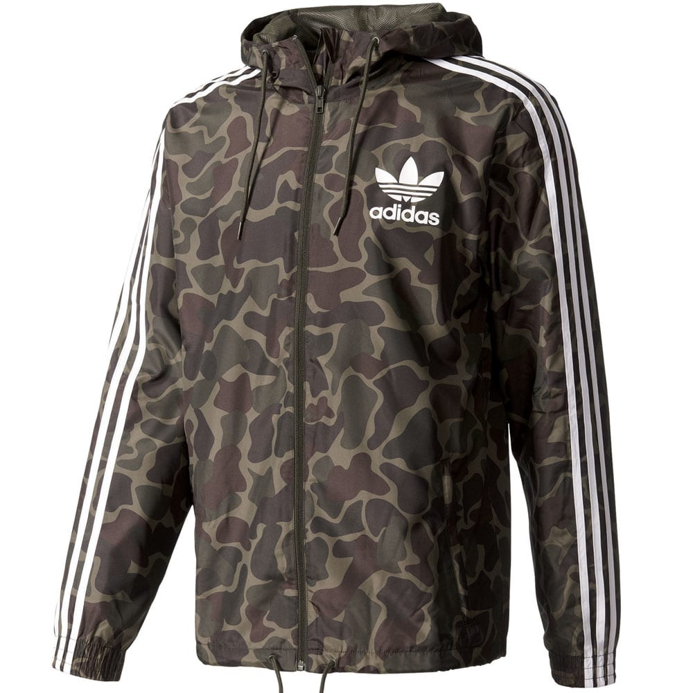 adidas originals camo windbreaker herren jacke multicolor fun sport vision