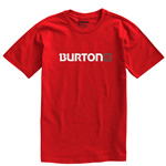Burton MNS Logo Horizontal SS T-Shirt (Red)