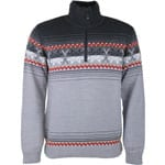 Campagnolo Man Knitted Pullover Grey Melange