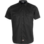 Dickies Short Sleeve Slim Work Shirt Hemd Black