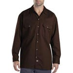 Dickies Long-Sleeve Work Shirt Herren-Hemd Dark Brown