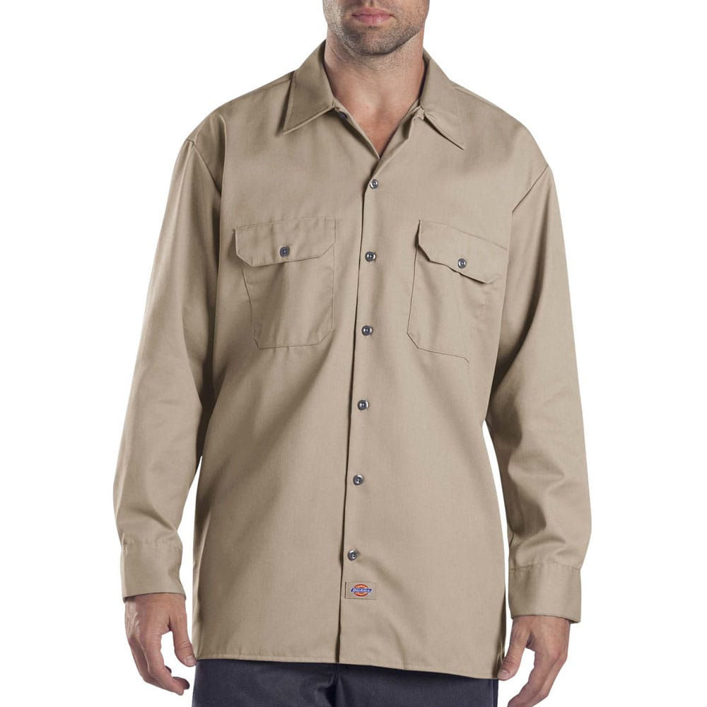 7e107cb6200477 Dickies Long-Sleeve Work Shirt Herren-Hemd Khaki