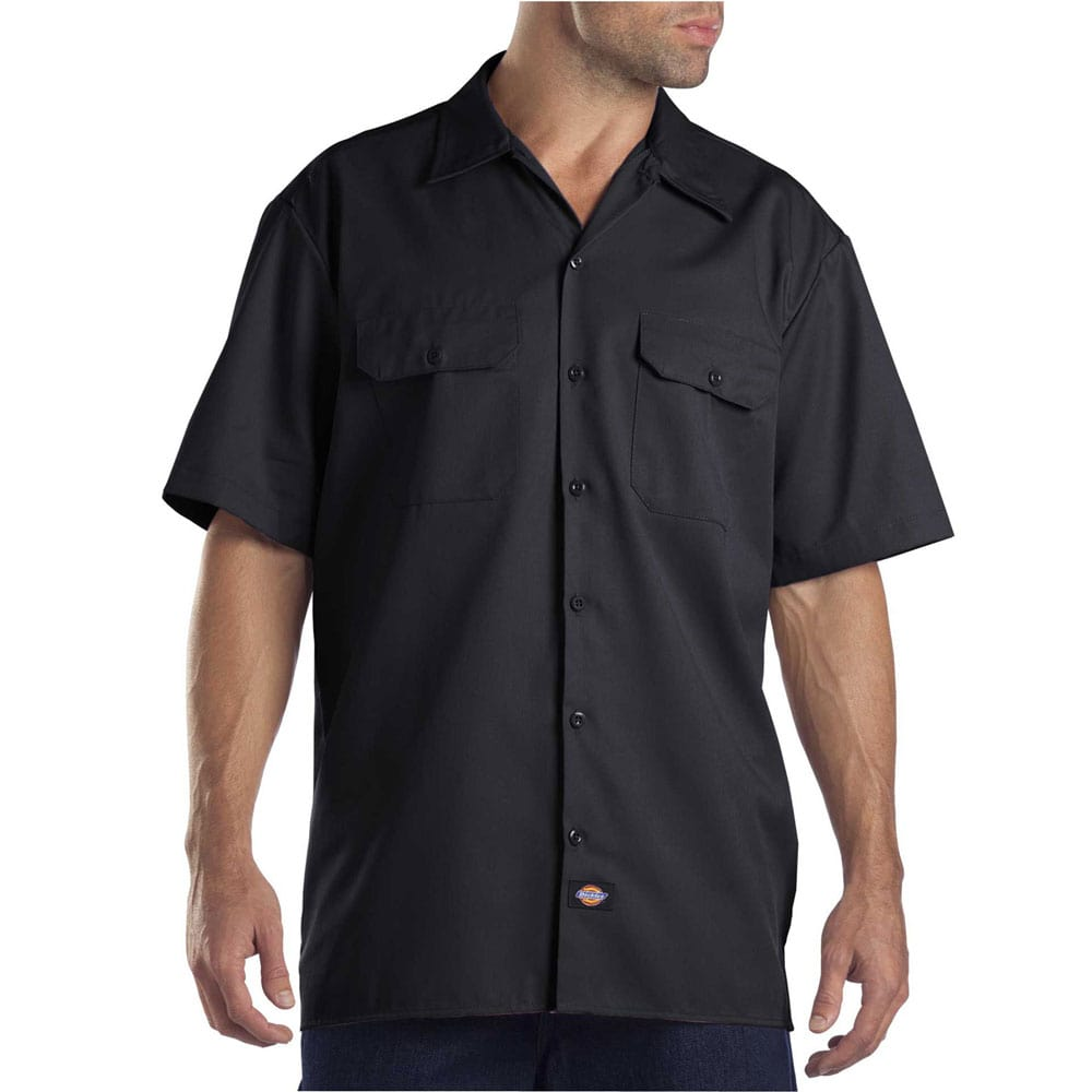 Dickies Short-Sleeve Work Shirt Herren-Hemd Black   Fun-Sport-Vision 254f03caa9