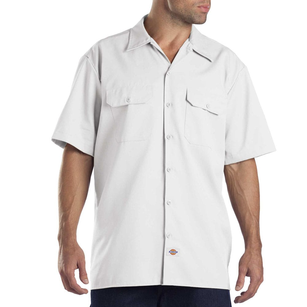Dickies Short-Sleeve Work Shirt Herren-Hemd White   Fun-Sport-Vision 0a194b70d5
