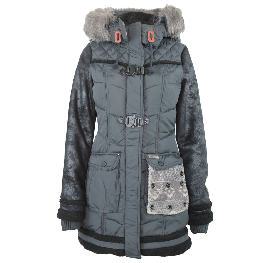 khujo dagny damen winterjacke charcoal fun sport vision. Black Bedroom Furniture Sets. Home Design Ideas