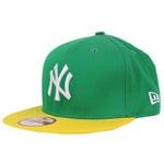 New Era Cap Cotton Block 5 NY Green/Cyber Yellow
