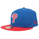 New Era Diamond Reverse Philadelphia Philies Cap Royal Scarlet