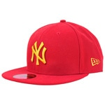 New Era MLB Season Contrast New York Yankees Cap Scarlet Yellow