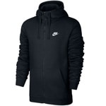 Nike Club Hoodie Full-Zip Herren-Sweatjacke Black/White