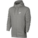 Nike Club Hoodie Full-Zip Herren-Sweatjacke Dark Grey