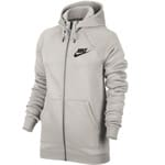 Nike Rally Hoodie Full-Zip Damen-Sweatjacke Light Bone