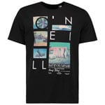 Oneill Neos T-Shirt Herren-Shirt Black Out