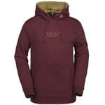 Volcom JLA Pullover Fleece Herren-Kapuzenpullover Burnt Red
