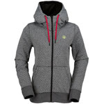 Volcom Stone Dot Fleece Damen-Kapuzenjacke Black