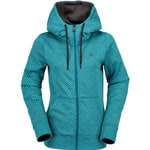 Volcom Stone Dot Fleece Damen-Kapuzenjacke Teal