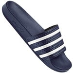 adidas Originals Adilette Slipper Adiblue White