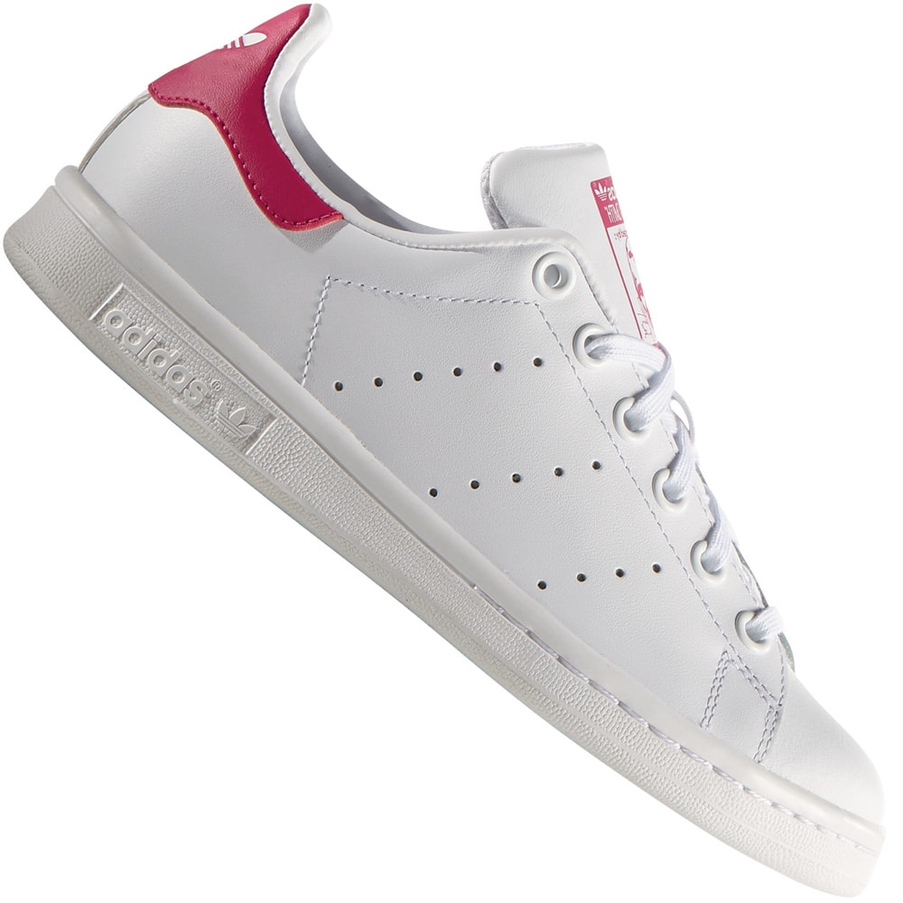 adidas Originals Stan Smith J Damen-Sneaker B32703 White/Pink