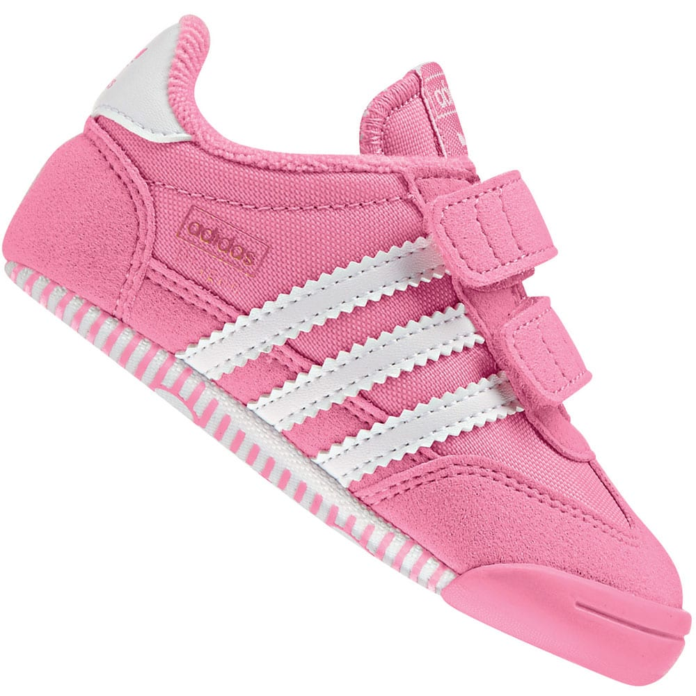 adidas Originals Dragon Learn2Walk Crib Kleinkind-Schuhe Pink/White