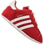 adidas Originals Gazelle Crib Kleinkind-Schuhe Core Red/White