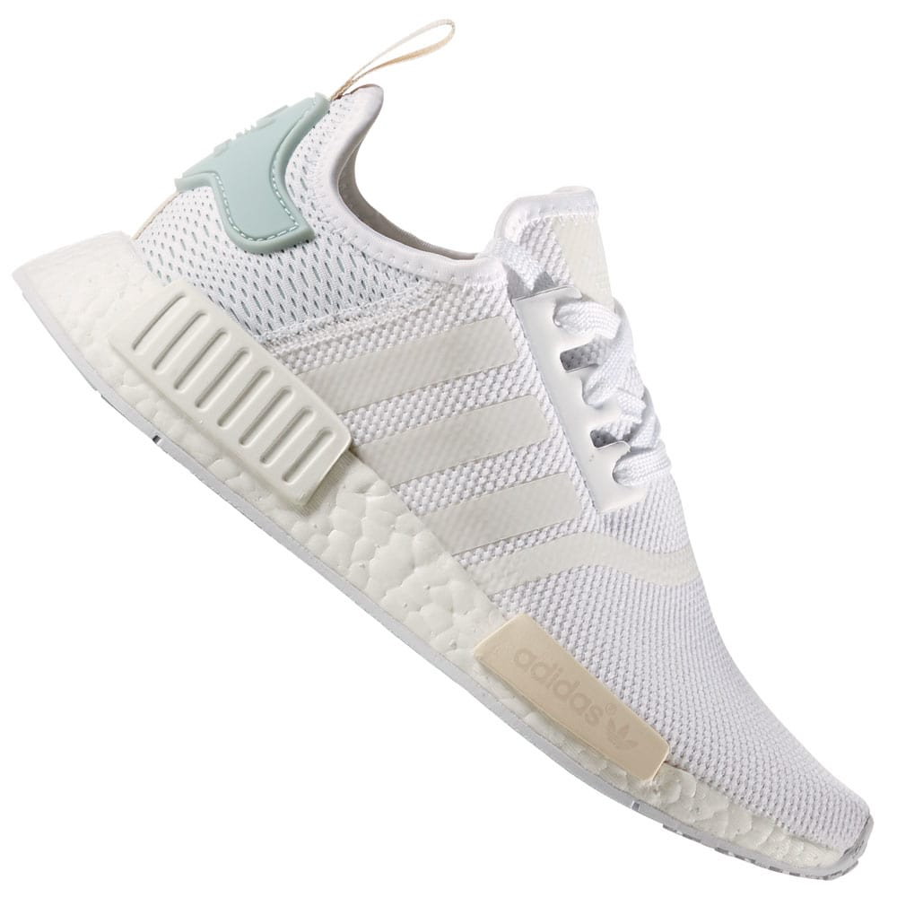 ae04403fb adidas Originals NMD R1 W Damen-Sneaker White Tactile Green