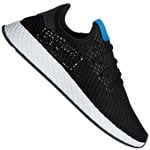 adidas Originals Deerupt Runner Unisex-Sneaker Black/Blue Bird