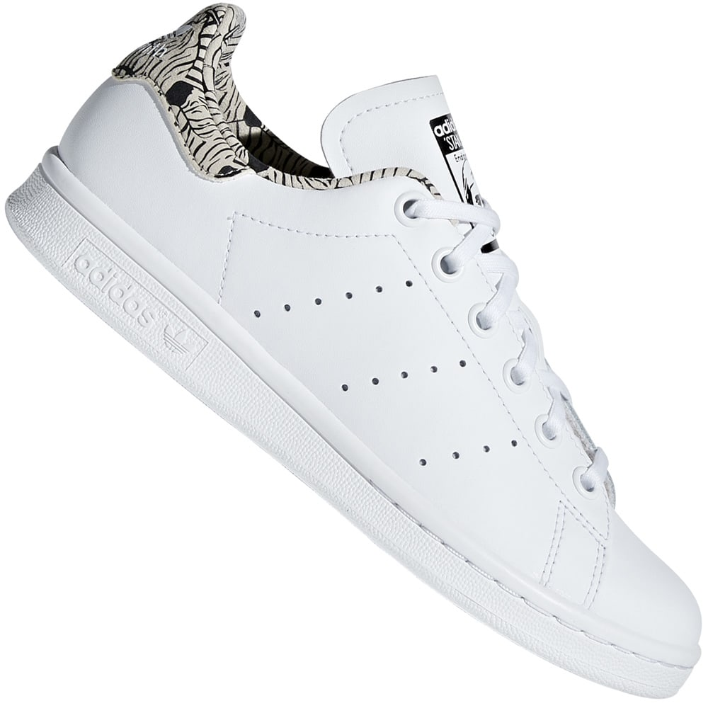937e29e1418 adidas Originals Stan Smith J Kinder-Sneaker White/Core Black | Fun ...