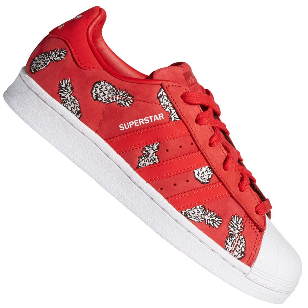 adidas Originals Superstar Sneaker White/Scarlet