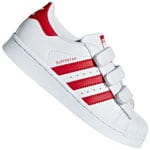 adidas Originals Superstar Sneaker White Scarlet