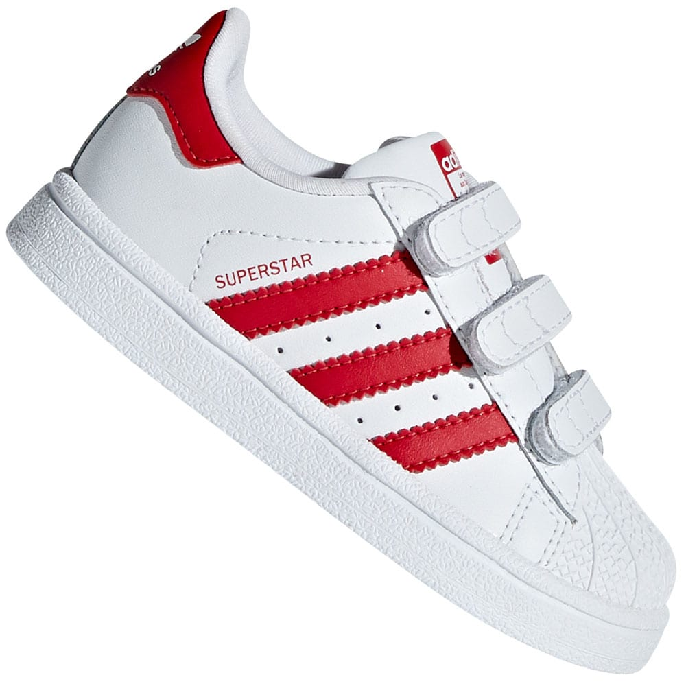 adidas Originals Superstar Sneaker Infants White Scarlet