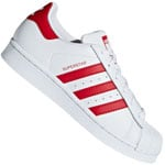 adidas Originals Superstar J Sneaker Footwear White/Sarlet