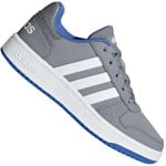 adidas Performance Hoops 2.0 Kids Kinder-Turnschuhe Grey Footwear Whit