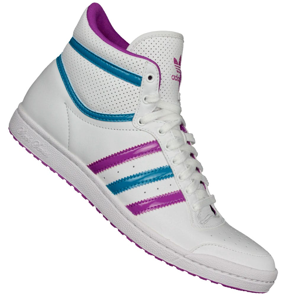 Adidas Top Ten Hi Sleek W Sneaker Q23606 (White/Pink/Turquise)