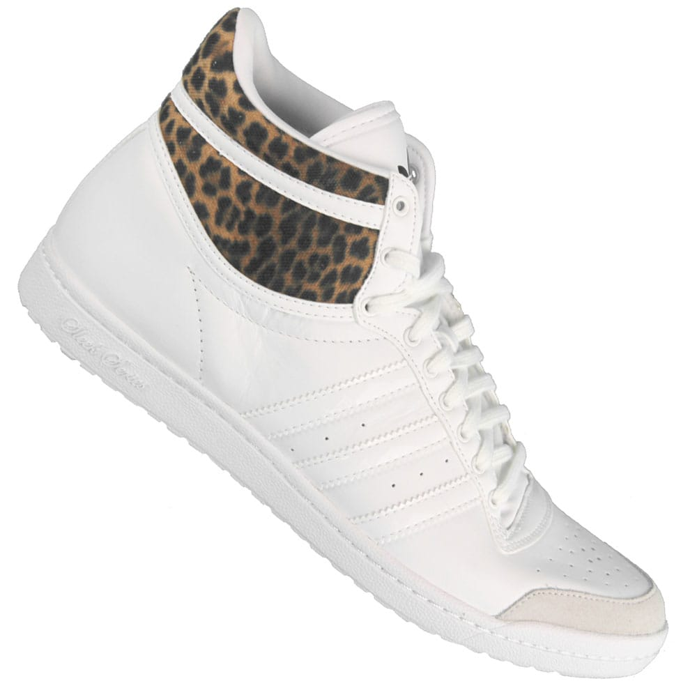 adidas baskets top ten hi sleek femme leopard
