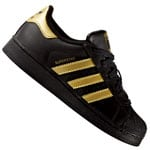 adidas Originals Superstar Foundation C Kinder-Sneaker Black/Gold