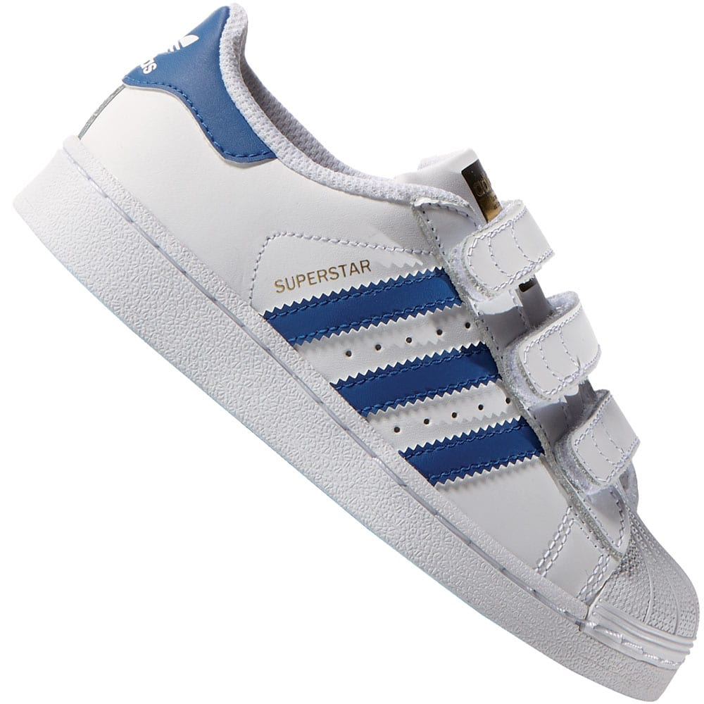 adidas Originals Superstar CF C Kinder-Sneaker White/Equipment Blue