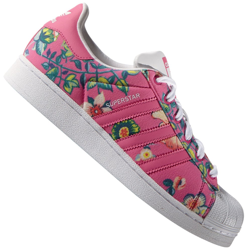 adidas superstar damen weiß pink