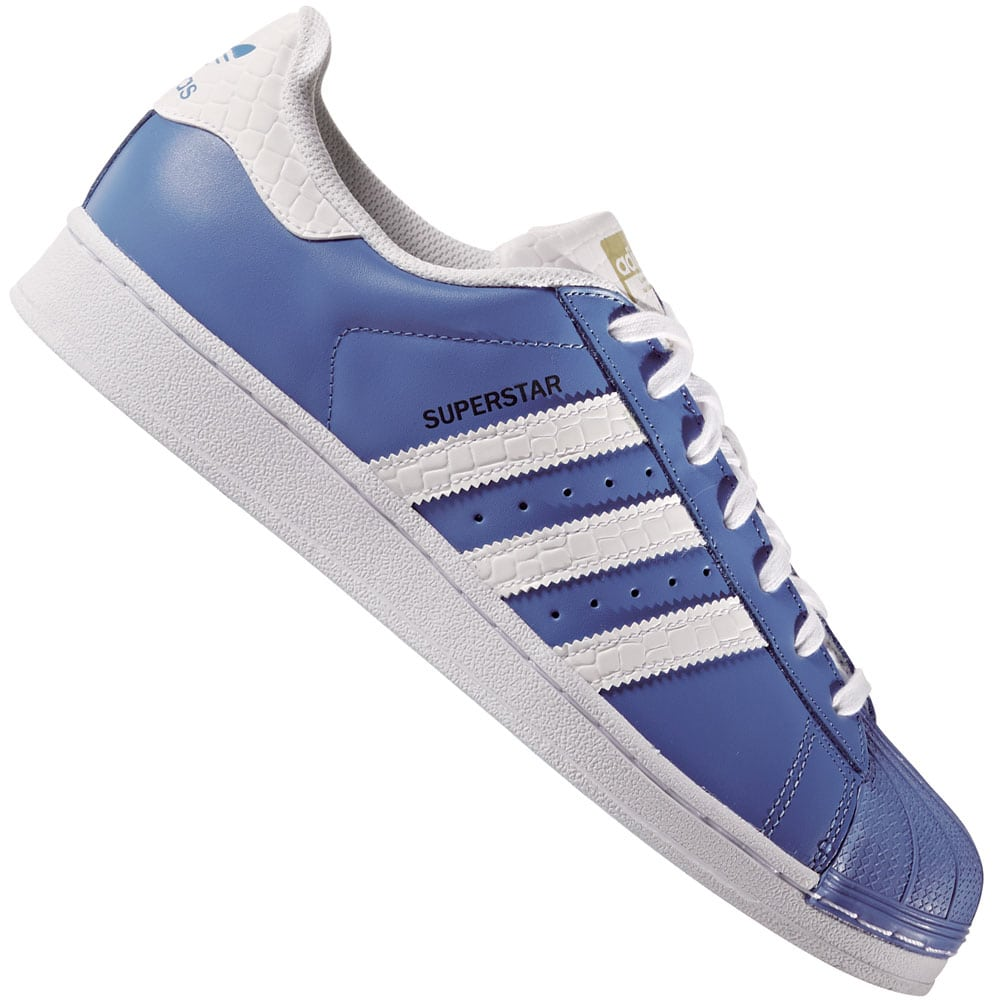 adidas Originals Superstar Sneaker Ray Blue/White
