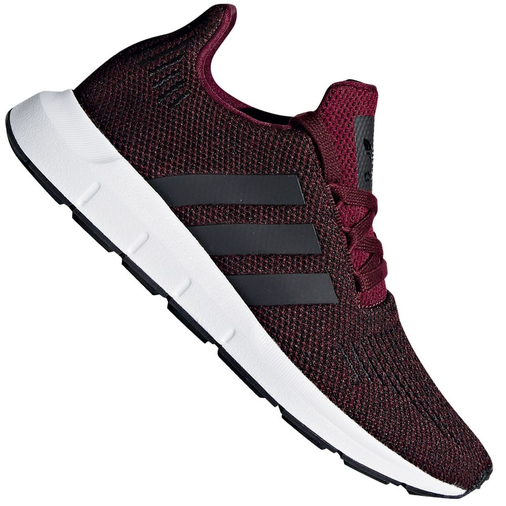 Adidas originali swift di scappare, kinder scarpe bordeaux / nero divertente sport