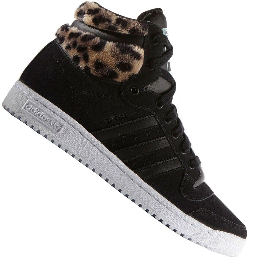 ee5948147b7418 adidas Originals Top Ten Hi Damen-Sneaker B35340 Core Black Mist Slate