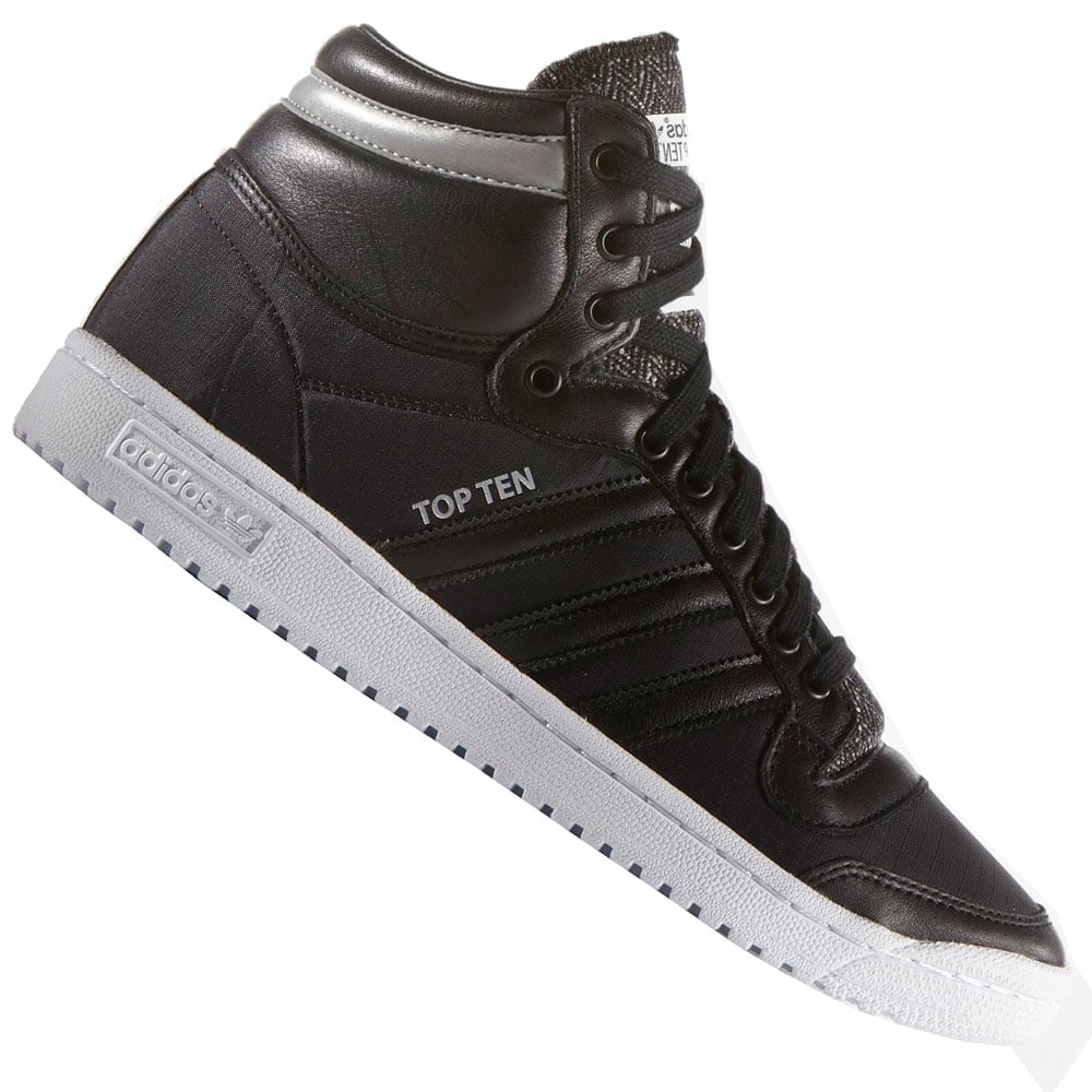 adidas Originals Top Ten Hi Winterized Sneaker B35373 Black/White