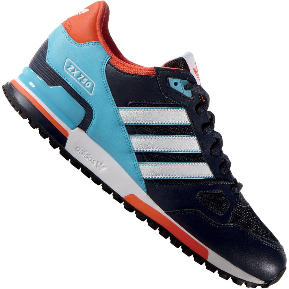 adidas originals zx 750 herren sneaker navy cyan fun. Black Bedroom Furniture Sets. Home Design Ideas