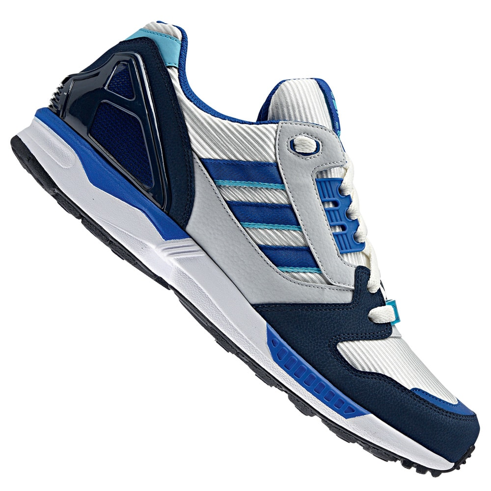 newest 31dce 94742 Adidas ZX 8000 M18267 Sneaker (White Collegiate Royal Navy)