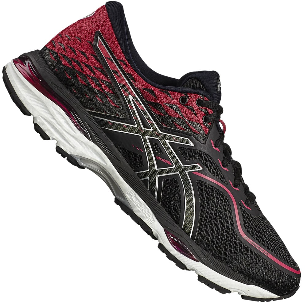 asics gel cumulus 19 damen laufschuhe black pink peacock. Black Bedroom Furniture Sets. Home Design Ideas