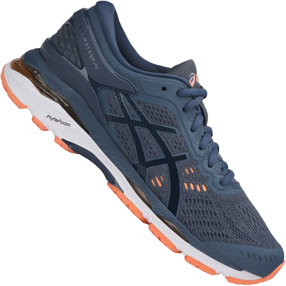 asics Performance Gel-Kayano 24 Damen-Laufschuhe Smoke Blue | Fun ...