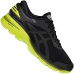 asics Performance Gel-Kayano 25 Herren-Laufschuhe Black/Neon Lime