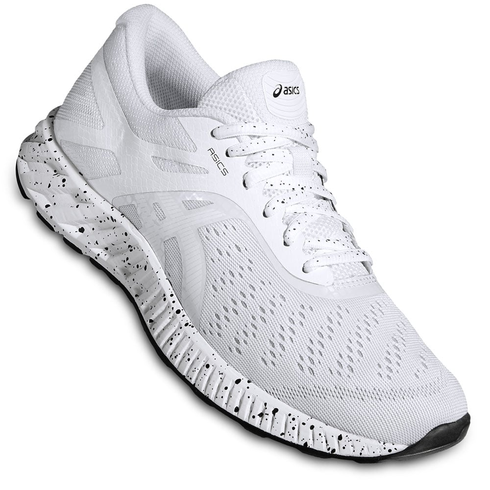 asics fuzex lyte herren laufschuhe white bone white black. Black Bedroom Furniture Sets. Home Design Ideas